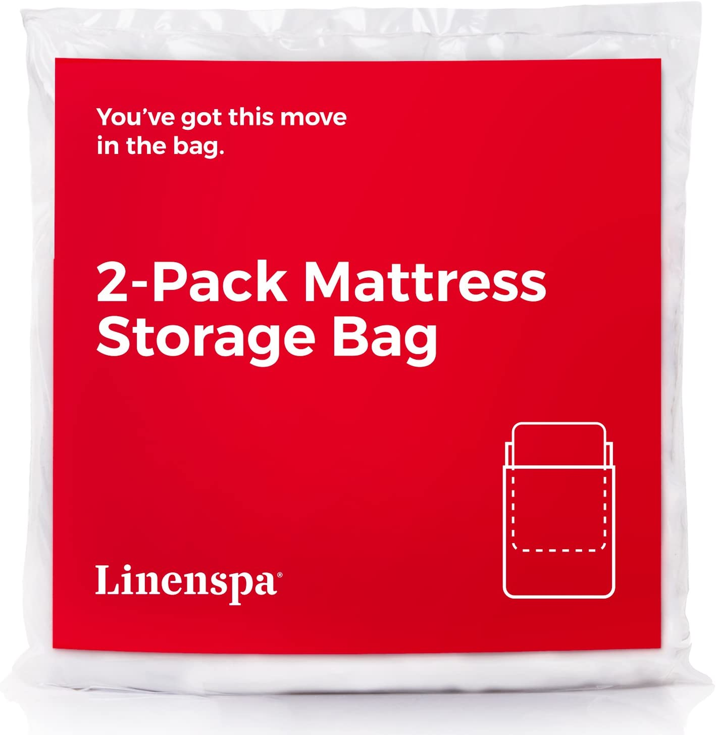 Linenspa Mattress Bag for Moving, Storage and Disposal