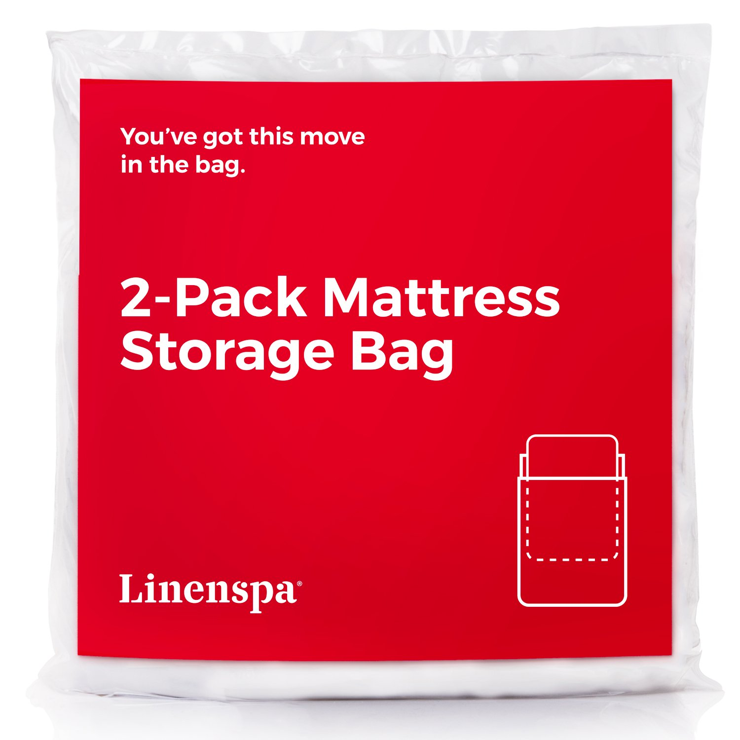 Linenspa 2-Pack Mattress Bag for Moving and Storage for Twin/Twin XL Mattresses and Box Springs LS02TXMB