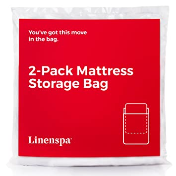amazon twin xl linenspa 2 pack mattress bag for moving and