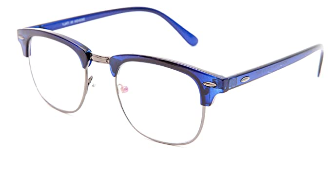 d9ca4dca5db Image Unavailable. Image not available for. Colour  TheWhoop Full Rim Blue Eye  Glasses Wayfarer Unisex Spectacle Frame ...