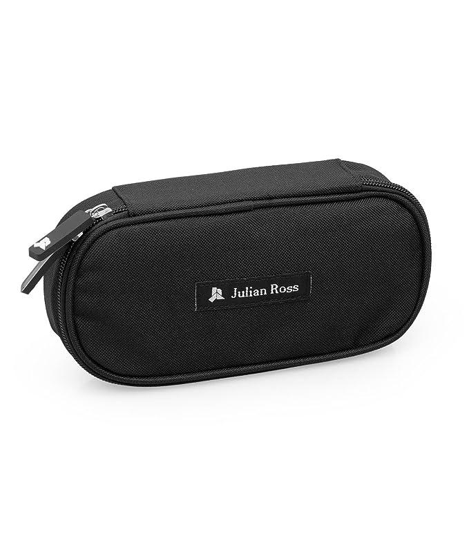 Julian Ross jr3005 Oval, estuche, poliéster, color Negro: Amazon.es: Oficina y papelería