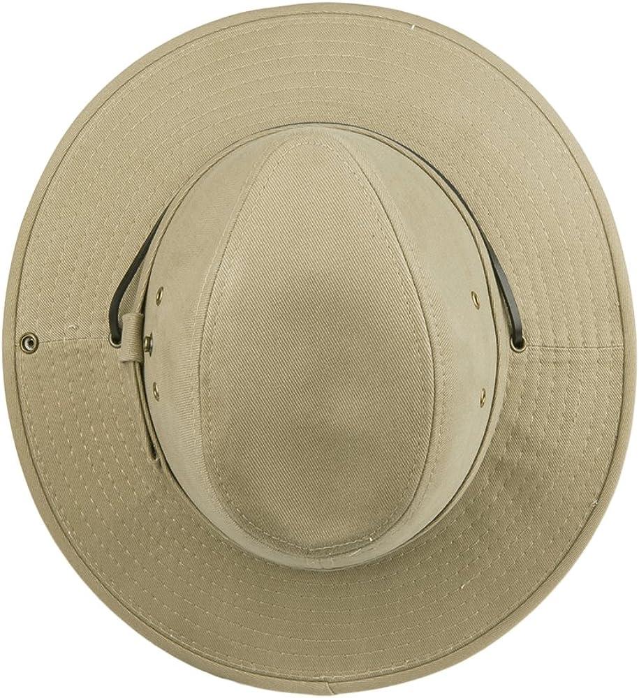 Village Hats Sombrero Australiano algodón cordón Ajustable Dorfman-Pacific - Kaki