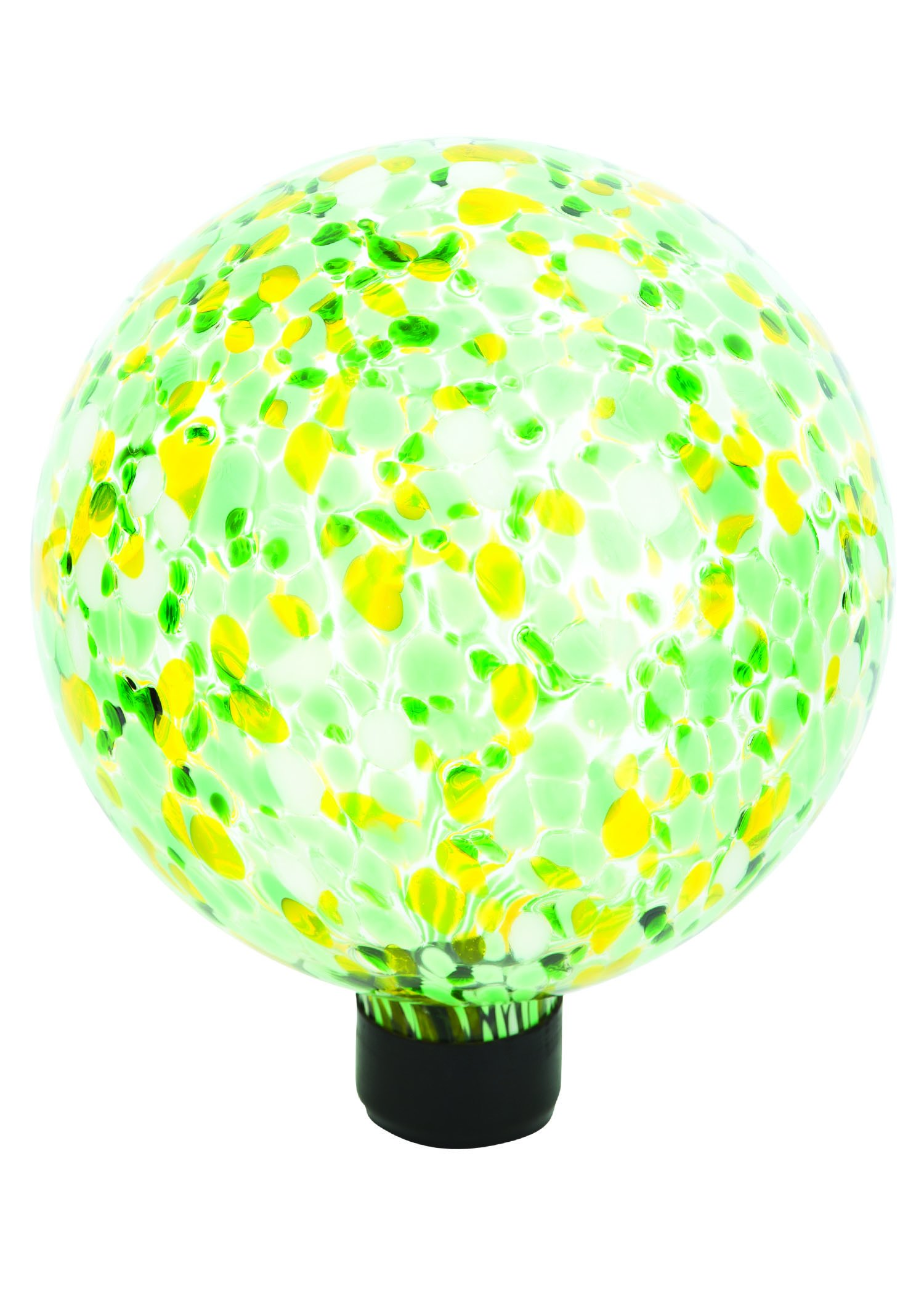 Russco III GD137128 Glass Gazing Ball, 10'', Green Spots