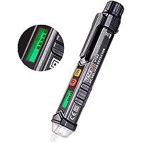 Detector de Voltaje sin Contacto con Pantalla LCD,12V-1000V Detector de Tension, Linterna LED/Alarma Sonora/Sensibilidad…