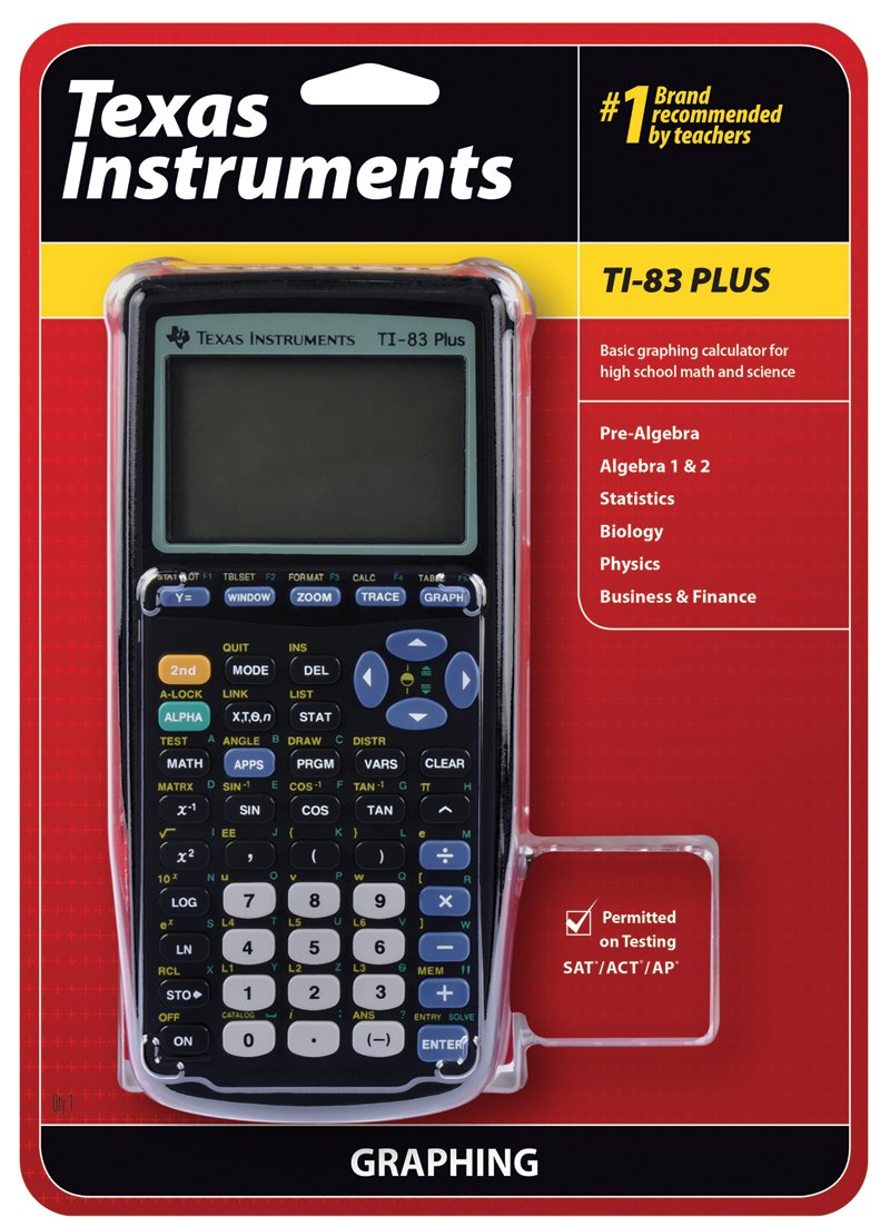 Amazon.com: Texas Instruments TI-83 Plus Graphing Calculator: Texas ...