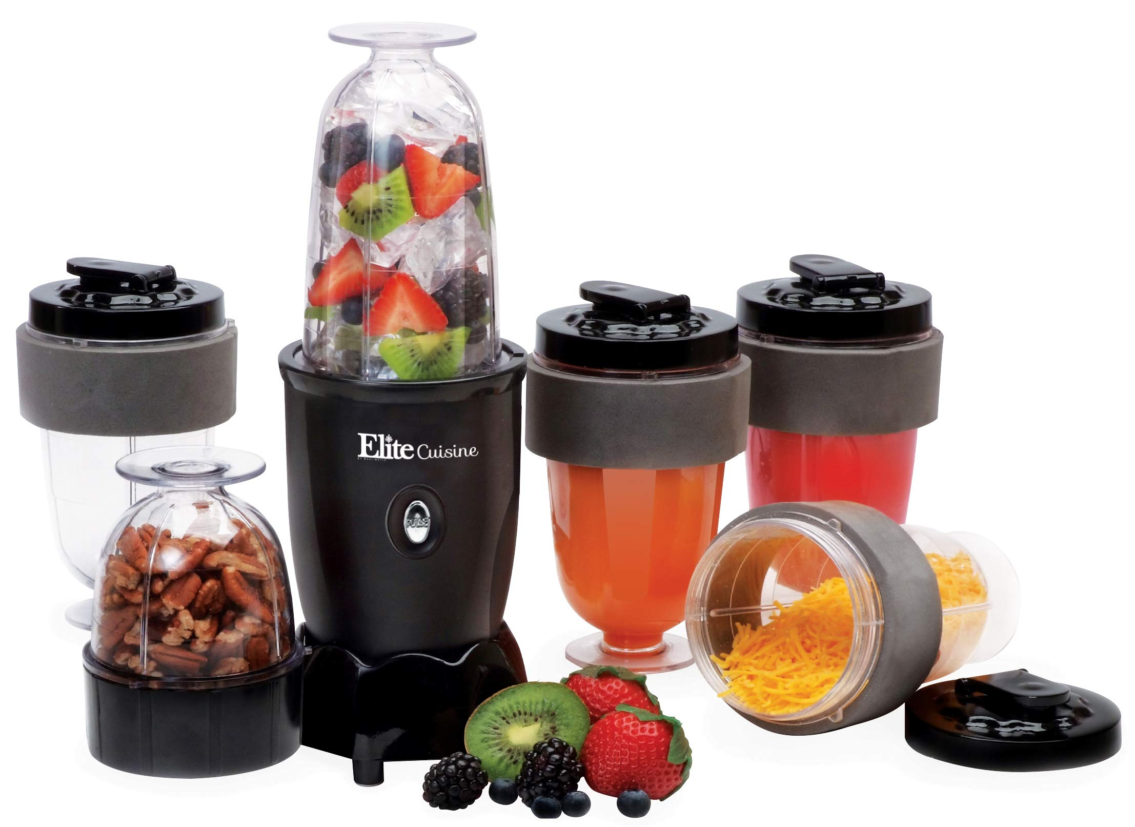 Maxi-Matic EPB-1800 17 Piece 300W Personal Drink Blender, 16 Oz, Black by Maxi-Matic