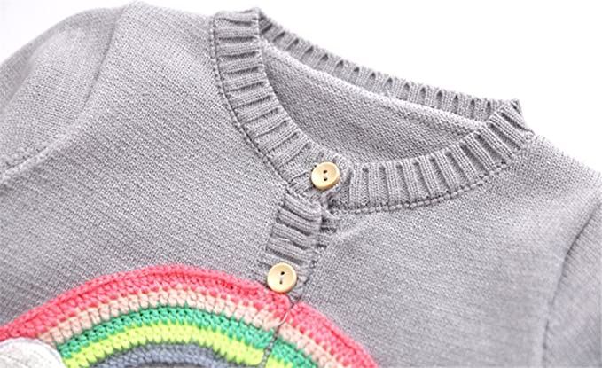 7a8e059faf0f Amazon.com  UNIQUEONE Infant Baby Boys Girls Fleece Jacket Rainbow ...