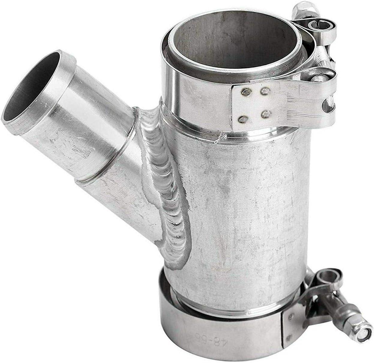 Fekuar Aluminum Dual Radiator Coolant Y-Pipe Billet Diesel Parts for 2013 2014 Dodge Ram Cummins 6.7L-Billet