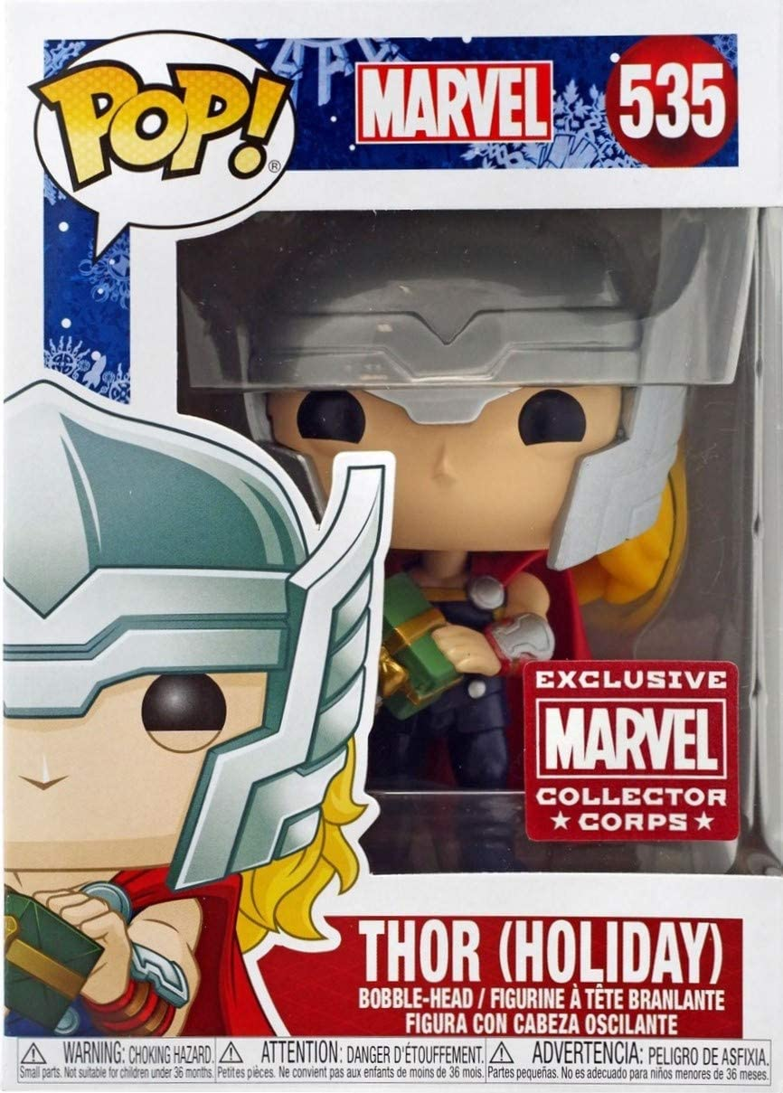 Amazon Com Pop Funko Exclusive Marvel Collector Corps 535 Thor Holiday Wth Free Acrylic Case Toys Games