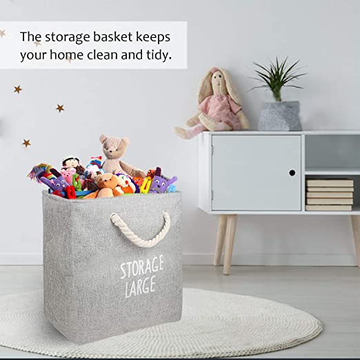 Convenient /& Waterproof Bag Home Organizer for Office Laundry Large - 16x13x17 Storage Basket Or Bin Collapsible Closet TBTeekk 2 Pack-Laundry Hamper Bags Bedroom -Grey Toys