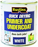 Rustins WHPU250 250ml Quick Dry Primer/Undercoat - White