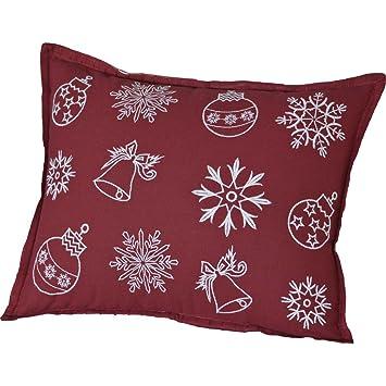 Amazon.com: VHC marcas Nieve ornamentos almohada: Home & Kitchen
