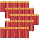 COSORO 60pcs 9.5cm EVA Red Foam Darts Refill Bullet for Nerf N-strike Elite Mega Series Blasters Kids Toy Gun