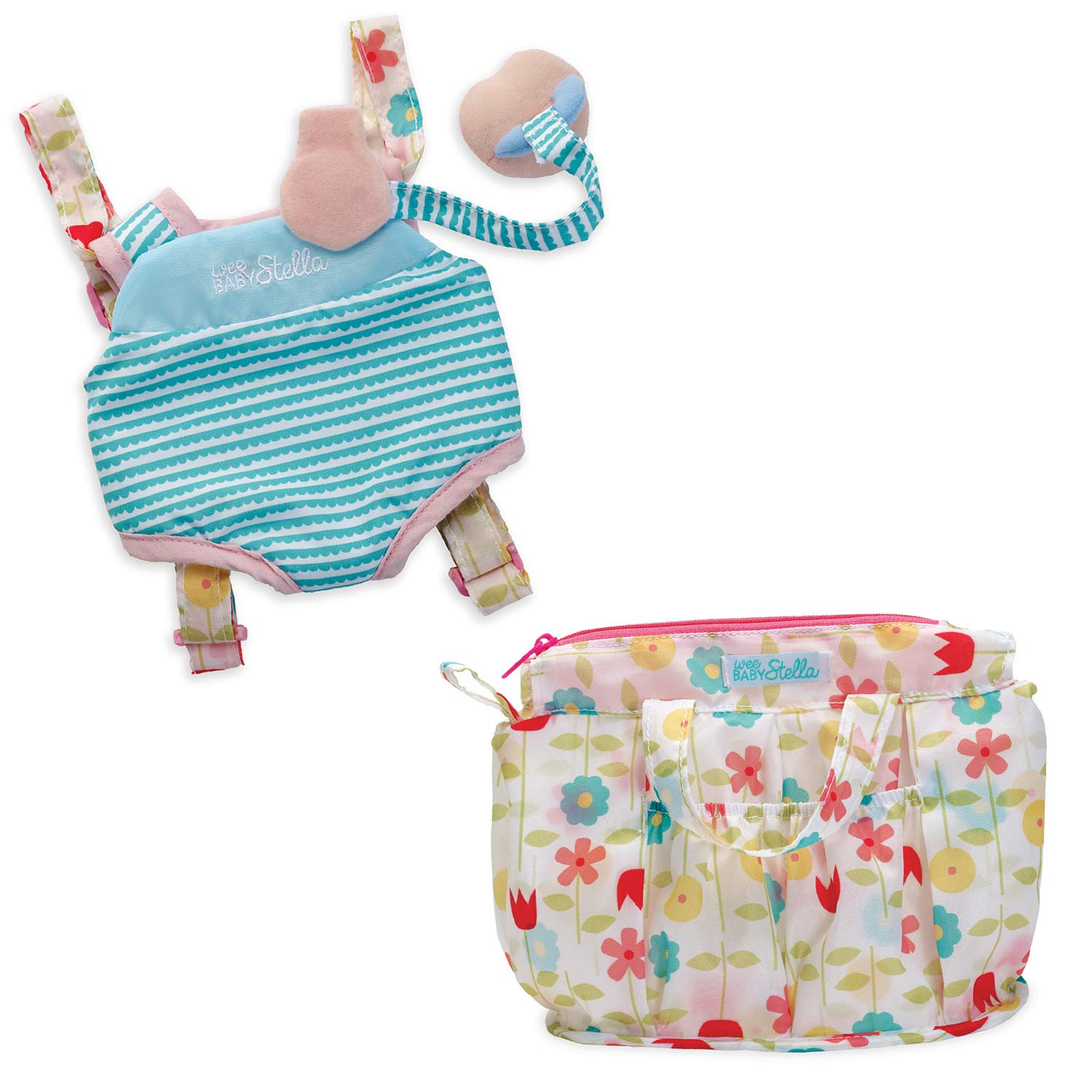 Manhattan Toy Wee Baby Stella Travel Time Carrier Set and Delightful Diaper Bag Baby Doll Accessories by Manhattan Toy