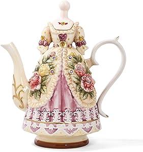 FORLONG FL5008 Large Teapot Porcelain Tea Set Tea Cups Teapot Grace Adult Tea set