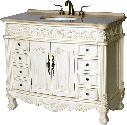 42-Inch Antique Style Single Sink Bathroom Vanity Model 3169-42 261