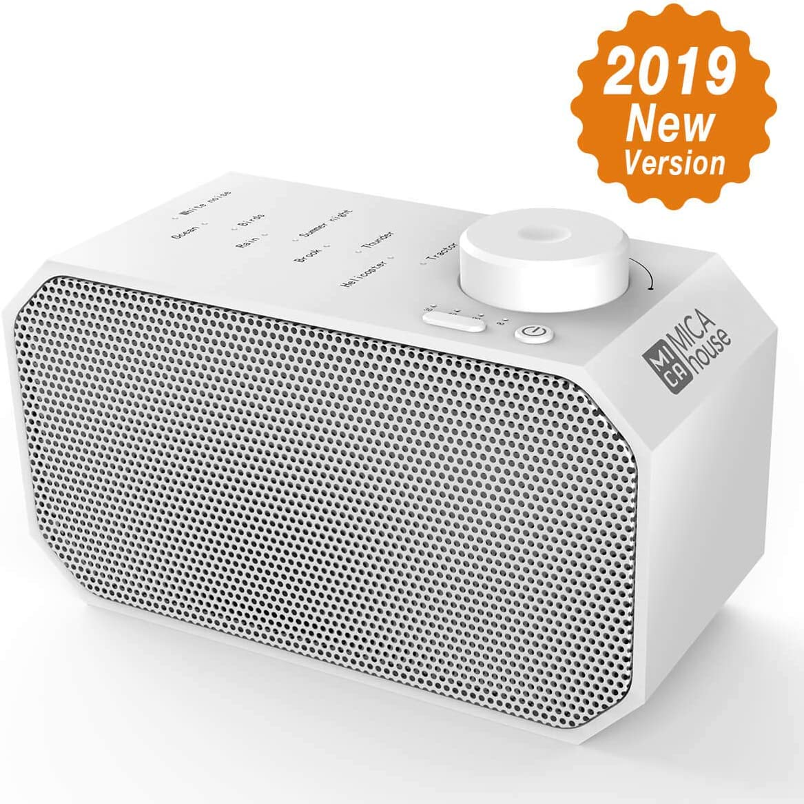 White Noise Machine, Mica House Sound Relaxation Machine with 4 Timers 9 Natural Sounds Portable Sound Therapy for Home, Office and Travel