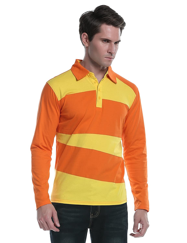 Coofandy Mens Long Sleeve Polo Shirt Classic Causal Business Slim