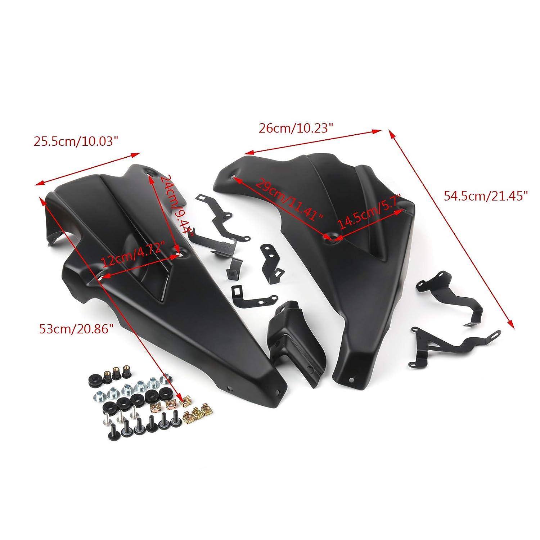 Body Frame Fenders Untere Verkleidung Puig Abdeckung f/ür Kawasa-ki Z900 2017 2018