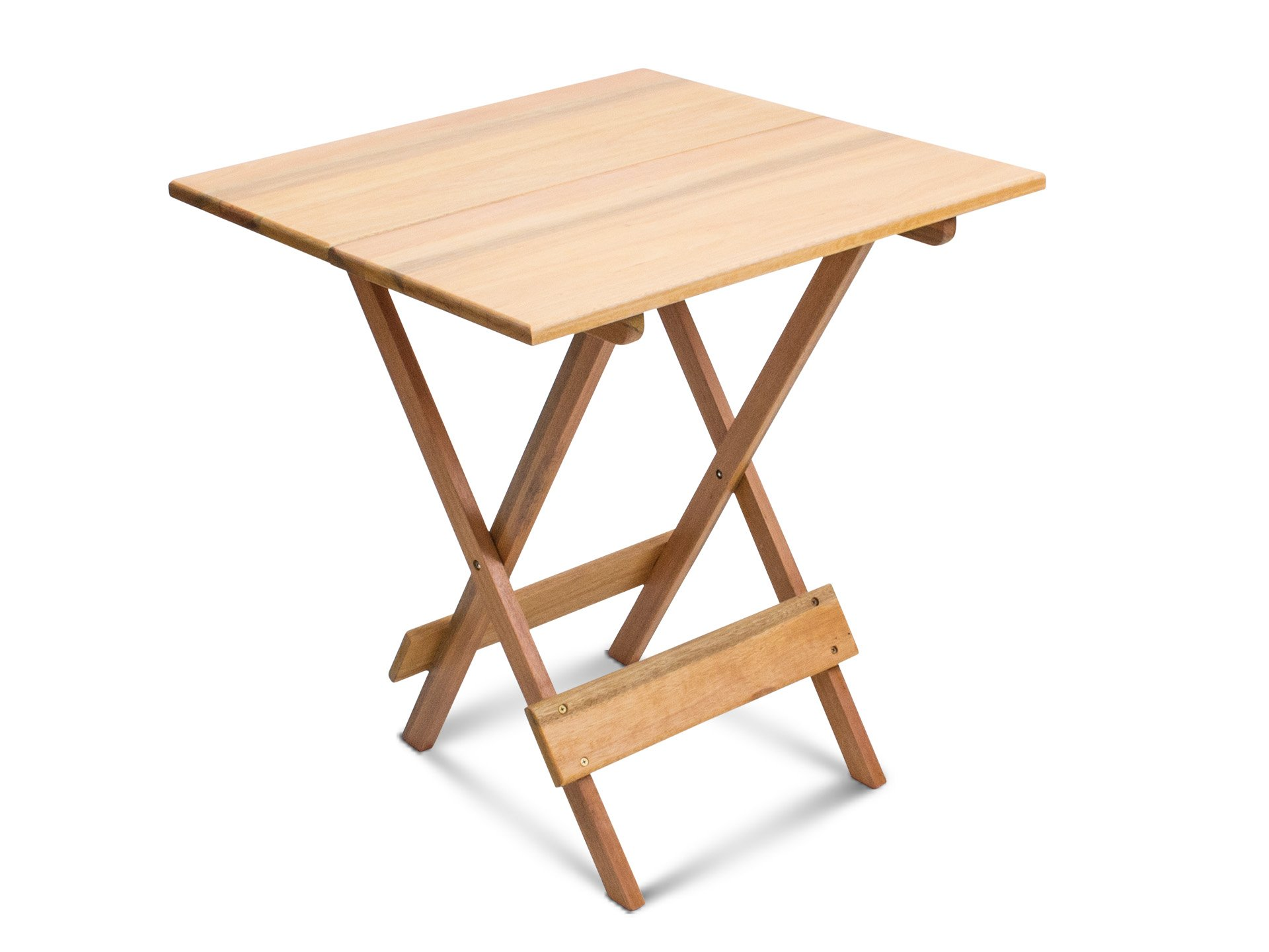 Wood Small Folding Table - Assembled