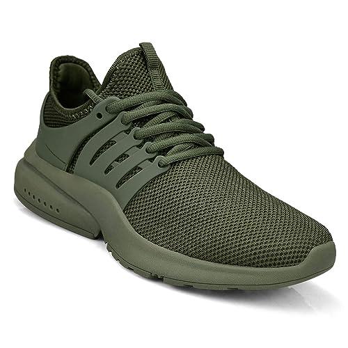ZOCAVIA - Zapatillas para Hombre, Color Verde, Talla 36 EU: Amazon.es: Zapatos y complementos