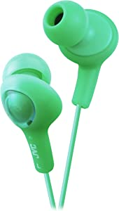 JVC HAFX5G Gumy Plus Inner Ear Headphones (Green)