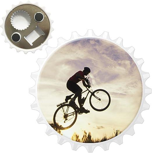 Compra Fancy A Snuggle Silueta de Hombre en el Aire en Bicicleta ...
