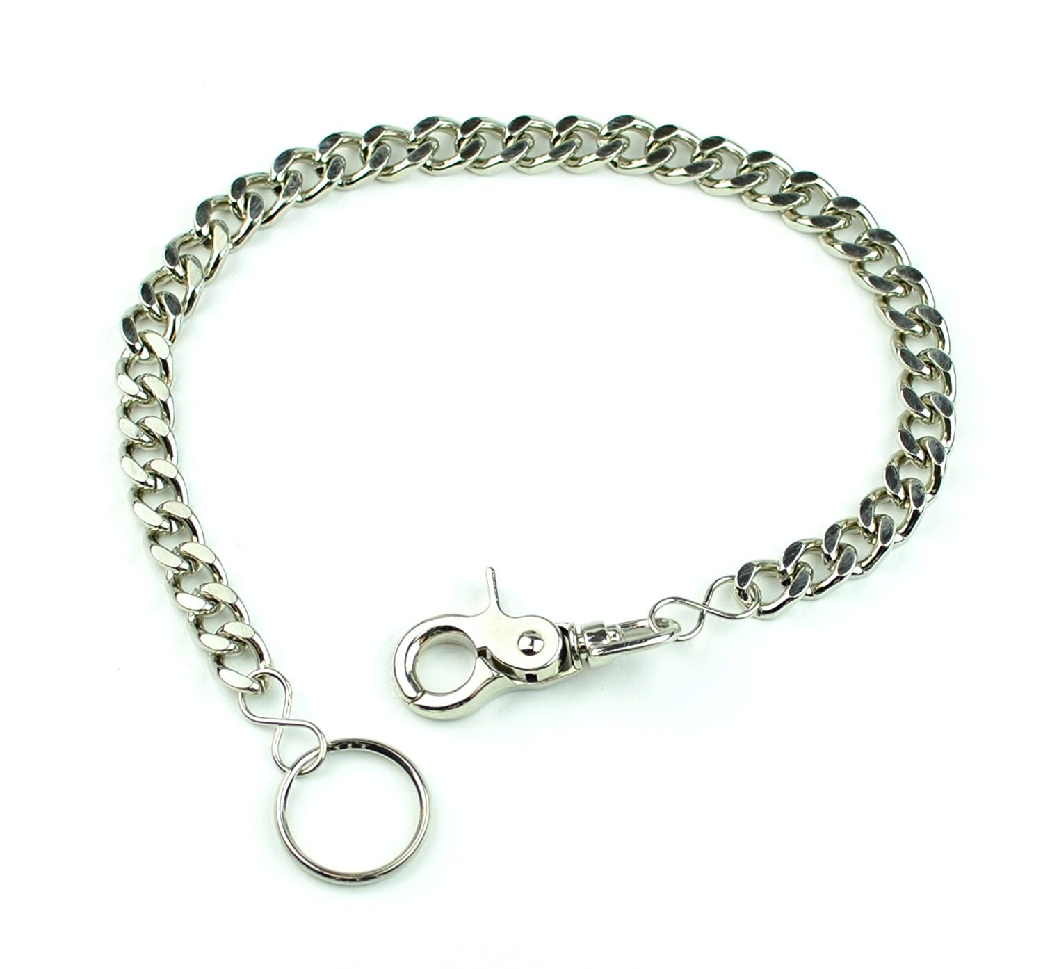Wallet Chain Heavy Diamond Cut Keychain or Biker Punk Rock Style with Trigger Clasp DC