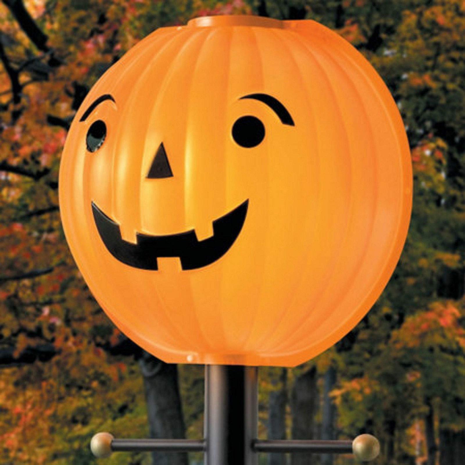 TisYourSeason Pumpkin Jack O Lantern Lamppost Lamp Cover Shade Fall Harvest Thanksgiving Decoration