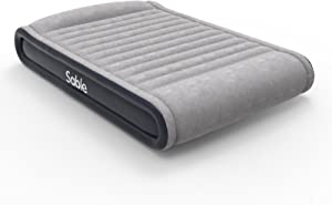Sable Air Mattresses Queen Size Inflatable Air Bed with Built-in Electric Pump & Storage Bag, Comfortable for Camping Travelling or Overnight Guests, Height 17""