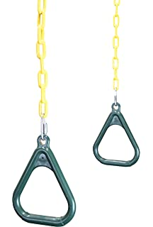 Amazon Com Swing Set Stuff Trapeze Rings Green With Swing Hangers