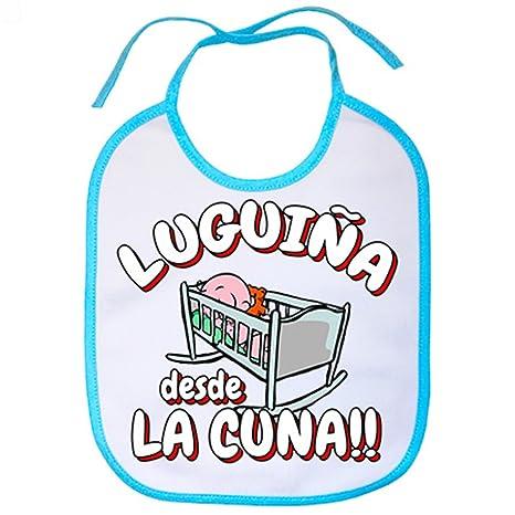 Babero Luguiña desde la cuna Lugo fútbol - Celeste: Amazon ...