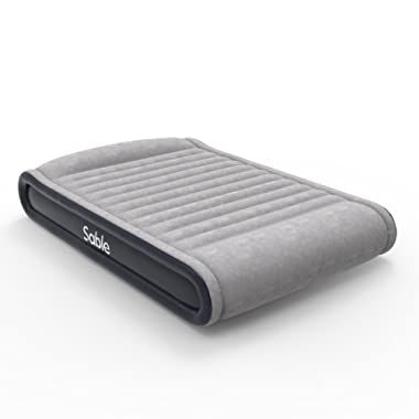 Sable Air Mattresses Queen Size Inflatable Air Bed with Built-in Electric Pump & Storage Bag, Comfortable for Camping Travelling or Overnight Guests, Height 17