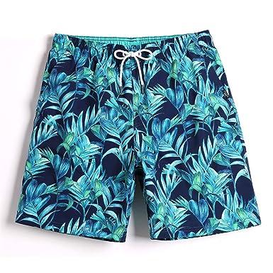 Bañador Hombre Pantalones de Playa Pantalones cortos de secado ...