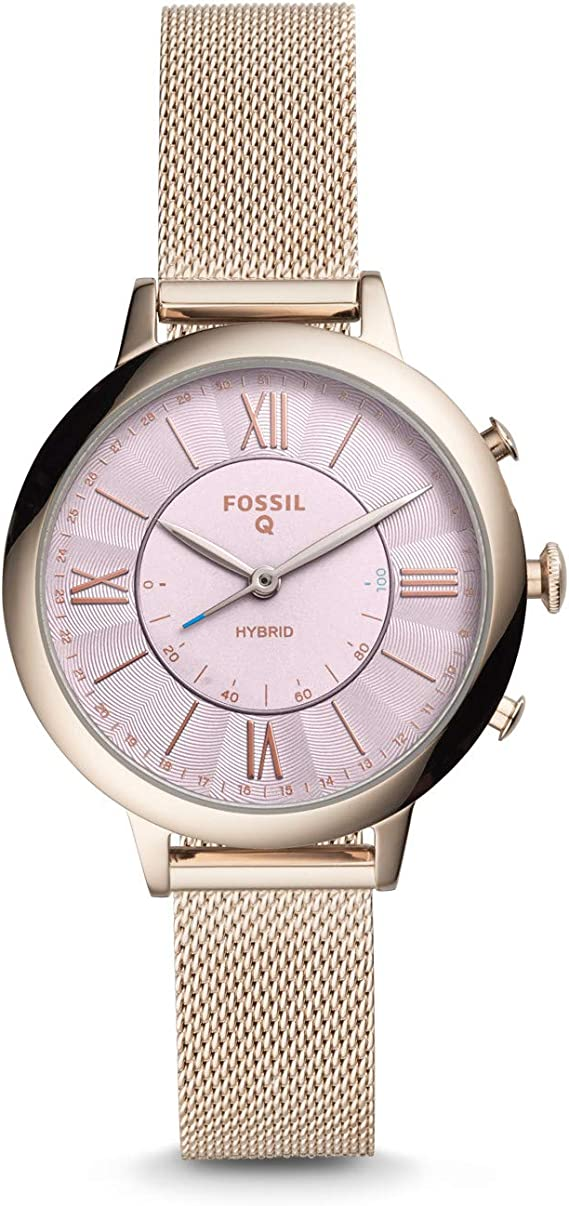 Fossil Hybrid Smartwatch Mit Mesh Edelstahlarmband Fur Damen Ftw5025 Amazon De Uhren