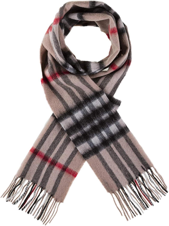 Edinburgh 100/% Lambswool Luxury Scottish Tartan Scarf Oyster Grey