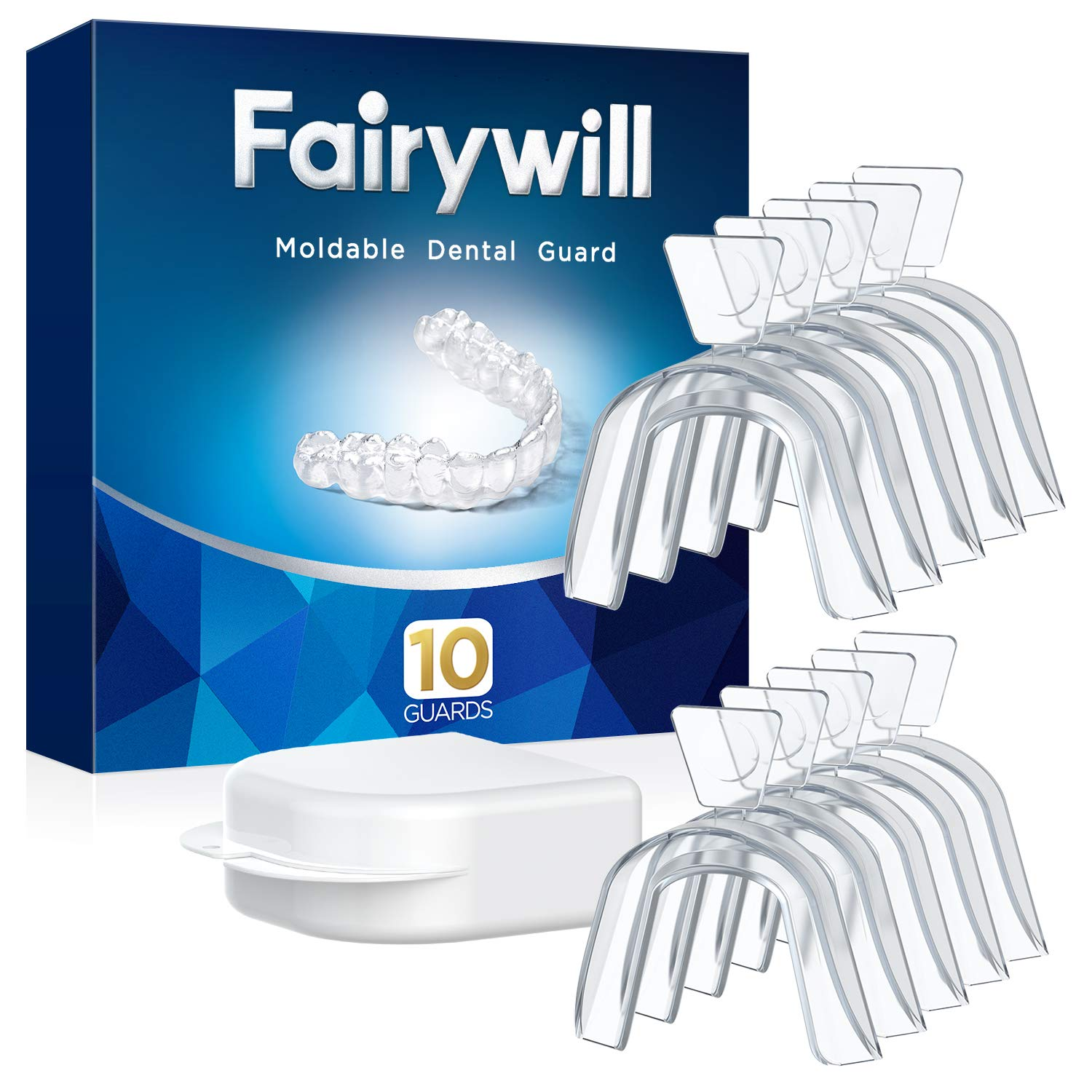 Fairywill Multi Use Moldable Mouth Guard, 10 packs, BPA-free, Dental Guard