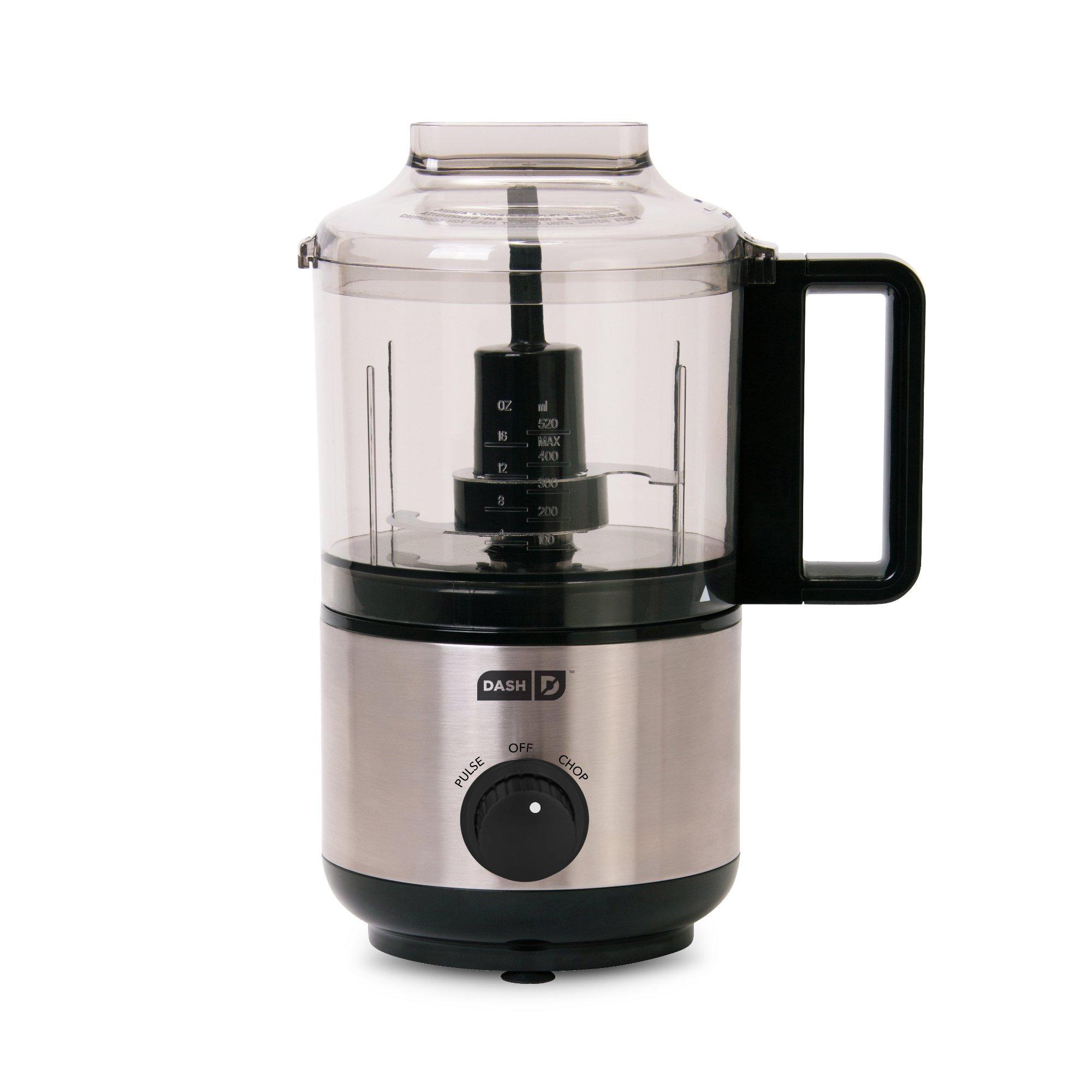 Dash DMFP100BK Express Mini Food Chopper Blend/Chop and Easy to Clean, 2 Cup, Black