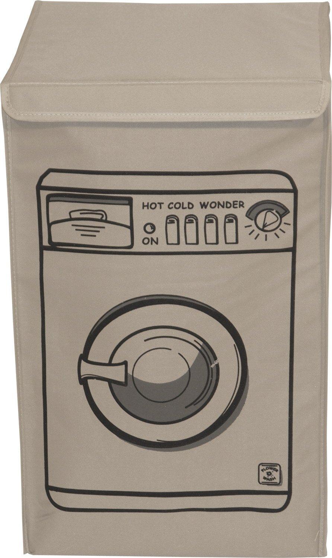 Franz Müller Flechtwaren 80713 °f11 Quadratichランドリーバスケット蓋40 x 40 x 63 cm NylongbandクリームPrinted洗濯マシン B00T454WX8