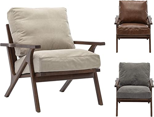 ZH4YOU Accent Leather Lounge Chair