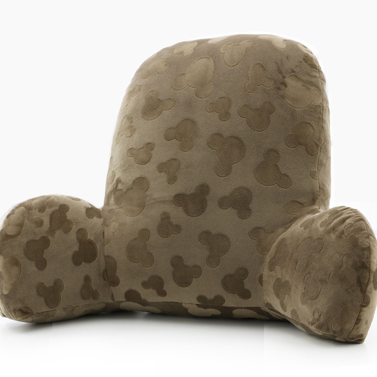 Wwang Embossed plush Reading Pillow - Best Bed Pillow with Arm Reading Bed - Perfect for Teens, and Kids -by (Brown)