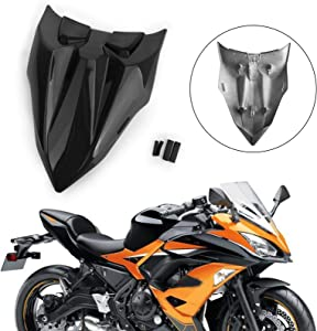 Areyourshop Motorcycle Rear Seat Fairing Cover Cowl for Kawasaki Z650 Ninja 650 2017-2019 Black