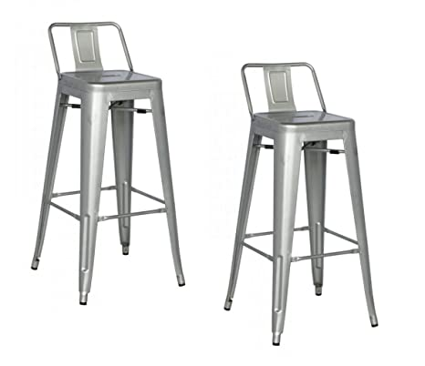 Magnificent Limari Home The Yvette Collection Modern Style Metal Counter Height Dining Bar Stool Set Of 2 Grey Caraccident5 Cool Chair Designs And Ideas Caraccident5Info