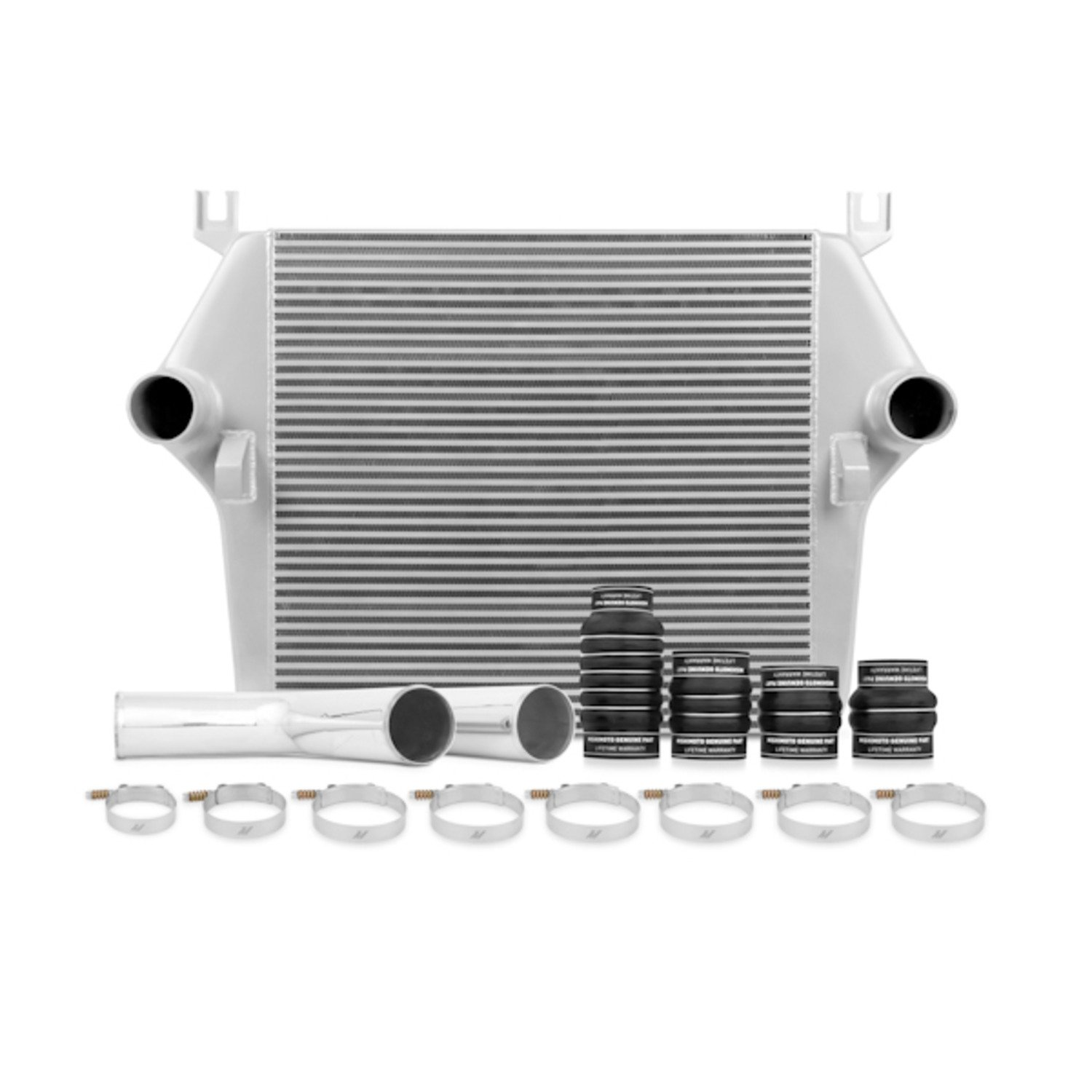 Mishimoto MMINT-RAM-03KSL Dodge 5.9L Cummins Intercooler Kit, 2003-2007 Silver