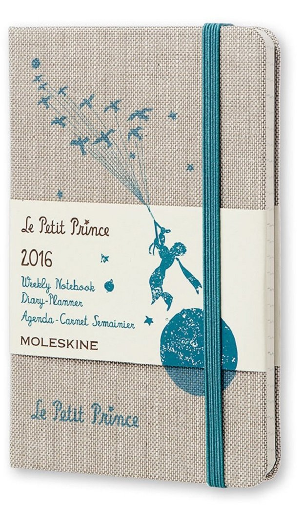 Moleskine Le Petit Prince - Agenda semanal 2016, 12 meses, color gris - Agenda 2016 El Principito 12 meses tamaño bolsillo vertical gris