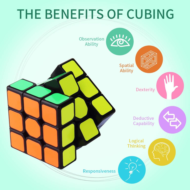 ROXENDA QIYI Qihang W Speed Cube, [Paquete de 6] 3x3x3 Juego de ...