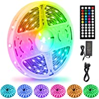 LED Strips Lights 15M/50Ft, Flexible Color Changing 5050 RGB 450LEDs Light Strips with Remote Controller 24V Adapter…