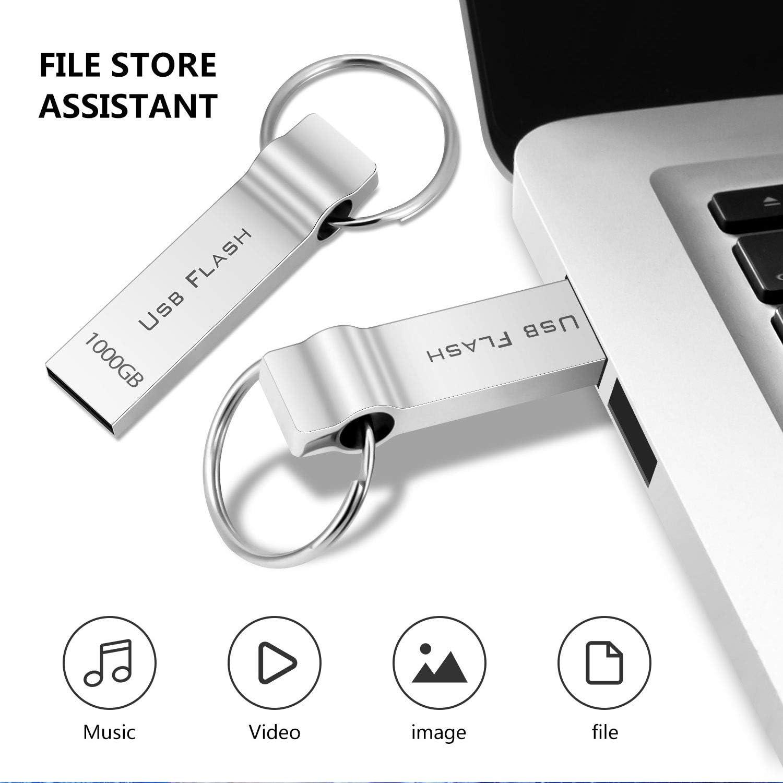 RUICHENXI 1TB USB Flash Drive Metal Waterproof Portable Memory ...