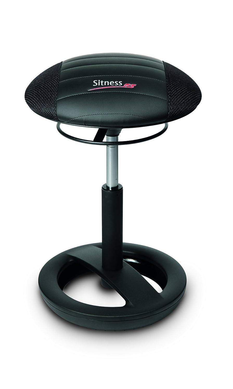Topstar Topstar Topstar Sitness RS Bob, Sitzhocker, Arbeitshocker, Fitnesshocker mit Schwingeffekt, Stoff, schwarz, 38,5 x 38,5 x 57,0 cm b2ba96