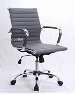 Perfect Grey Designer Contemporary Management Reception Meeting Office Chair